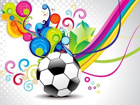 symbol sport: abstrakte magische Welle mit Fußball Abbildung Illustration