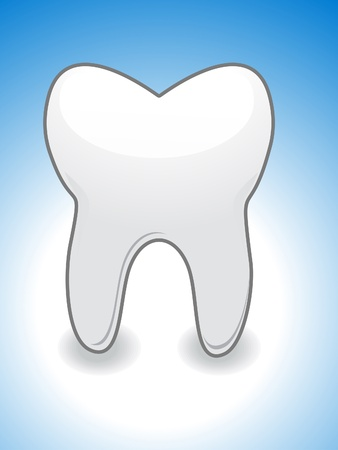 tooth paste: abstract  tooth icon illustration