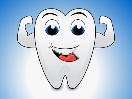 abstract tooth cartoon illustration  Vector