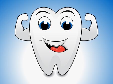 braces: abstract tooth cartoon illustration