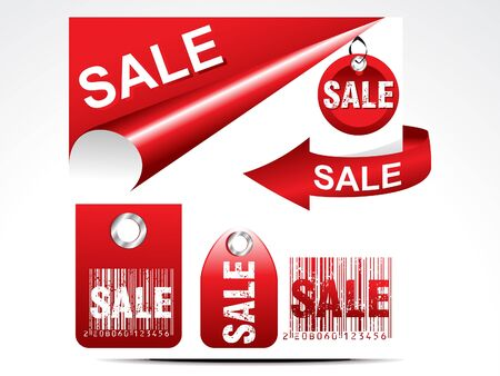 abstract glossy sale tag set illustration Vector