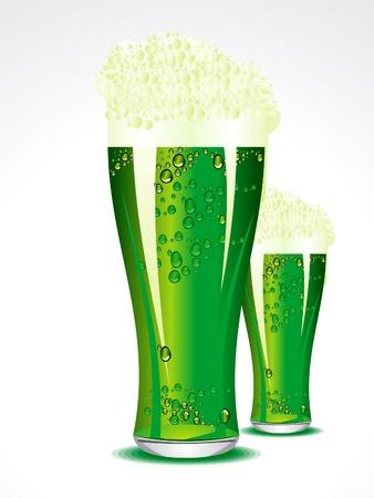 symbolic: abstract green beer vector illustration