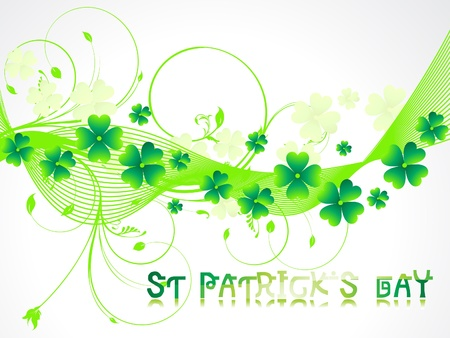 abstract sant patricks background vector illustration  Stock Vector - 12209248