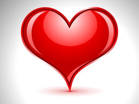 abstract glossy heart vector illustration  Illustration
