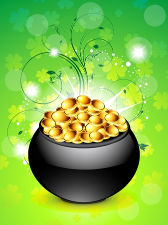 abstract sant patricks background vector illustration  Vector