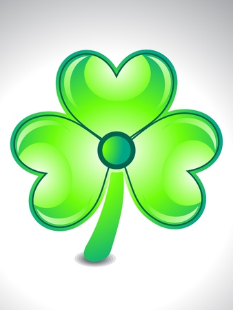 four leafed: abstract shiny and glossy clover vector illustration