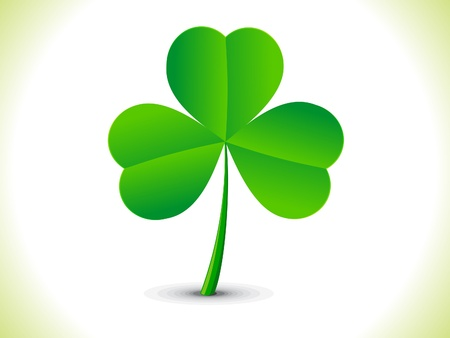 abstract st patrick clover vector illustration Vector
