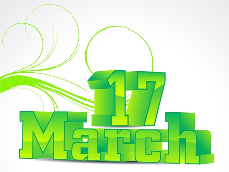march 17: abstract 17 march background vector illustration  Illustration