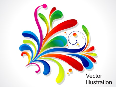 rainbow colours: abstract colorful floral vector illustration