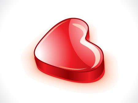 abstract glossy 3d heart vector illustration  Illustration