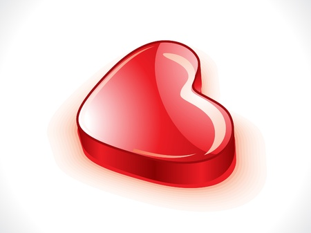 modernffection: abstract glossy 3d heart vector illustration  Illustration