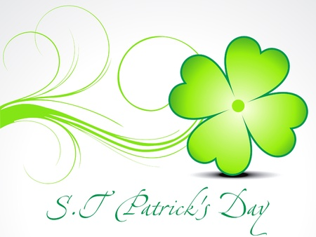 four leafed: abstract st patrick clover vector illustration