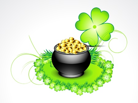 abstract st patricks background with clover vector illustration  Vector