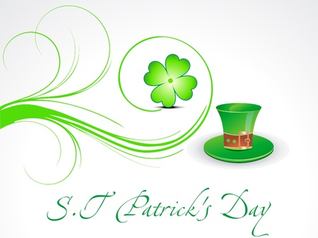 abstract st patricks background vector illusration  Vector
