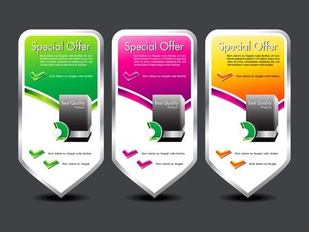 offerta speciale: abstract colorful offerta speciale bandiera illustrazione vettoriale Vettoriali