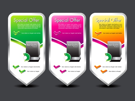abstract colorful special offer banner vector illustration