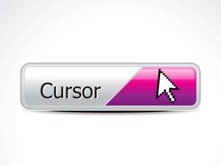 abstract glossy cursor button vector illustration