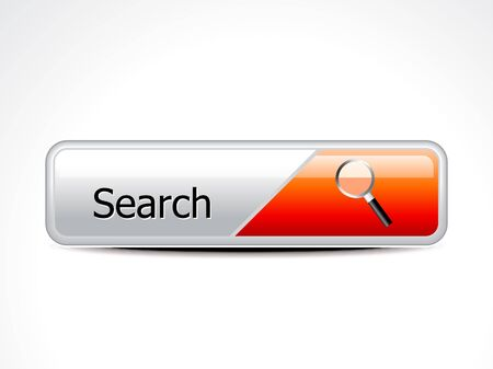 abstract glossy search button vector illustration