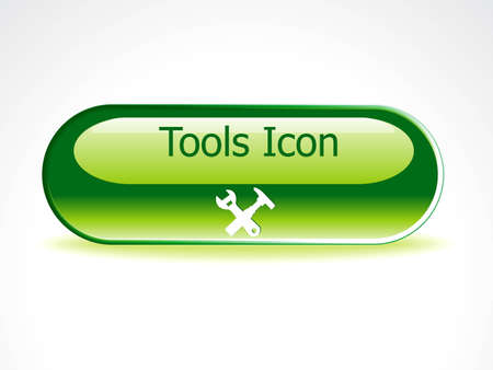 abstract glossy tools button vector illustration  Illustration