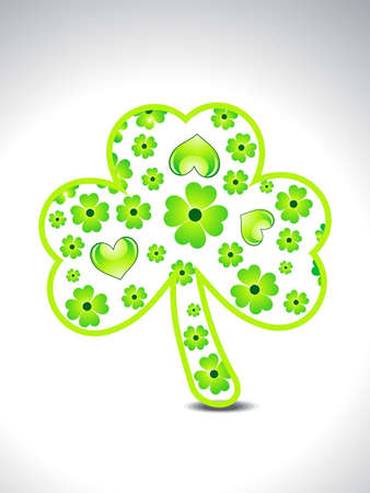 four leafed clover: abstract green clover vector illustration