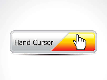 abstract hand cursor web button vector illustraton  Stock Vector - 12495723