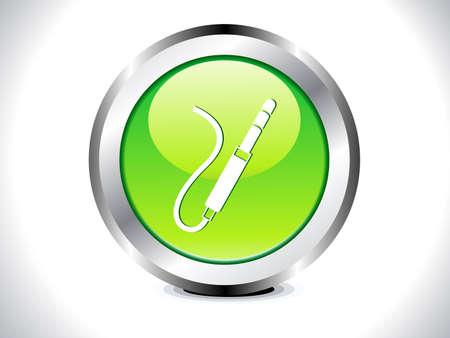 input: abstract glossy audio jack button vector illustration  Illustration