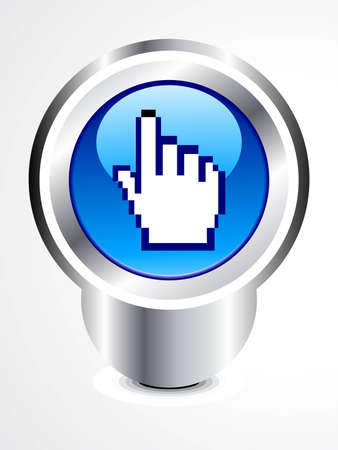 abstract glossy hand cursor button vector illustration Stock Vector - 12495953