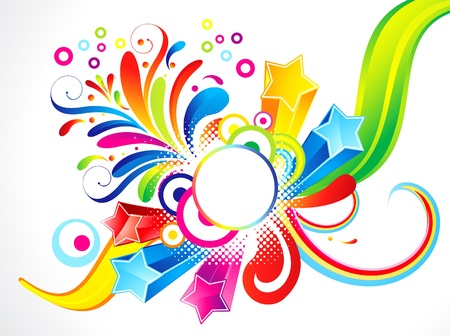 abstract colorful floral with star vector illustration  Illustration