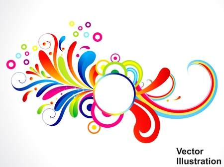 abstract colorful floral vector illustration