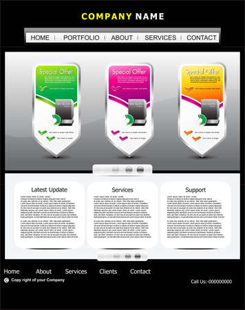 abstract web template design vector illustration  Stock Vector - 12495970