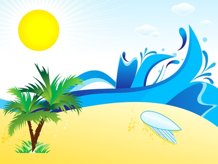abstract summer theme  background vector illustration  Vector