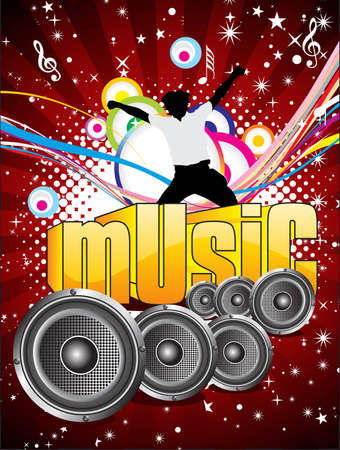 abstract colorful musical background vector illustration