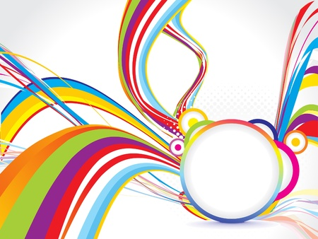 abstract colorful background with circle vector illustration  Vector