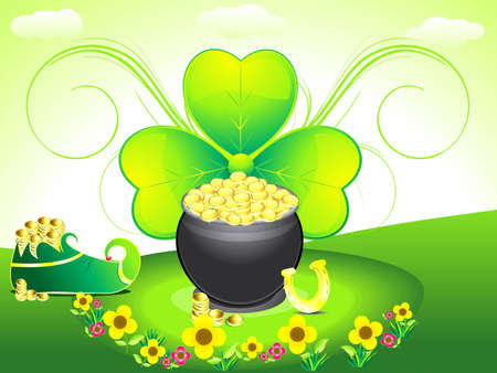 patric background: abstract st patricks backrgound with shoes vector illustration