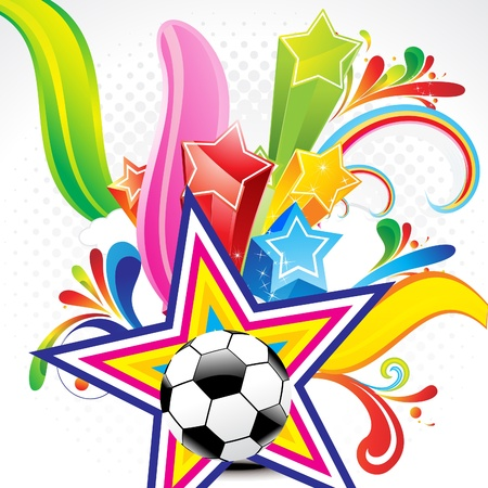 football party: abstract colorful background with football vector illhustration  Illustration