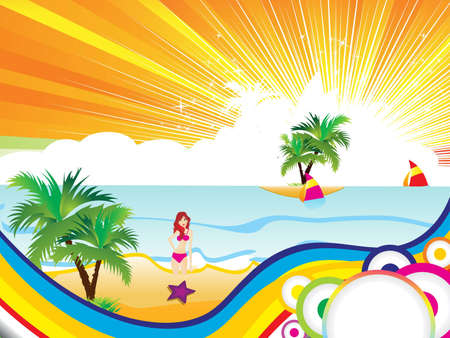 abstract colorful summer background vector illustration  Vector