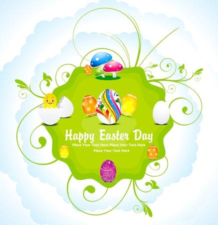 egg plant: abstracto colorido d�a de Pascua de fondo ilustraci�n vectorial Vectores