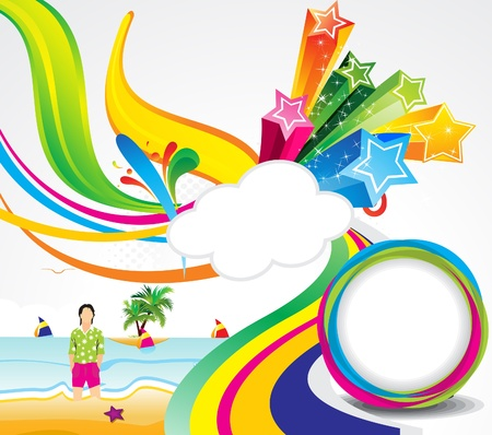 abstract colorful summer background vector illustration  Illustration