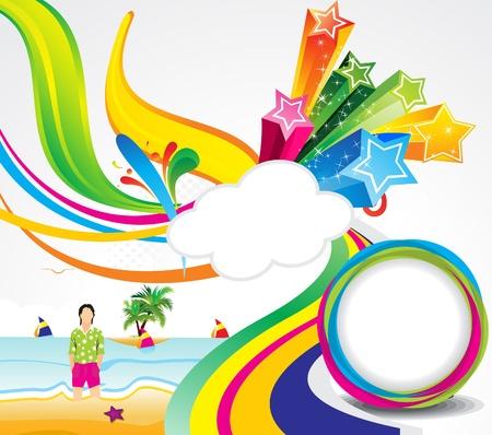 zomer: abstracte kleurrijke zomer achtergrond vector illustratie Stock Illustratie