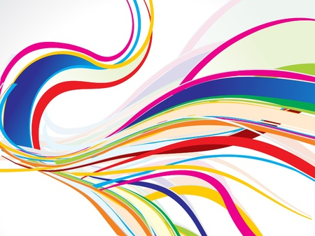fresh colors: abstract colorful wave background vector illustration
