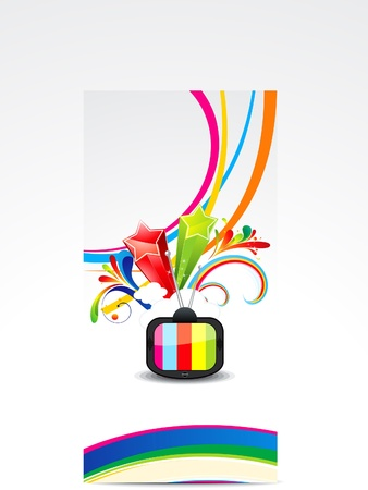 love explode: abstract colorful wave with television vector illustration