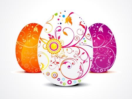 ester: abstract ester egg in floral vector illustration  Illustration