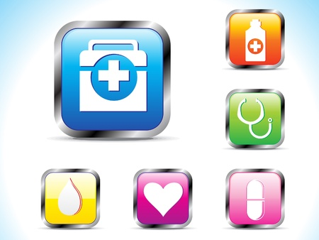 hypo: abstract colorful medical icon vector illustration  Illustration