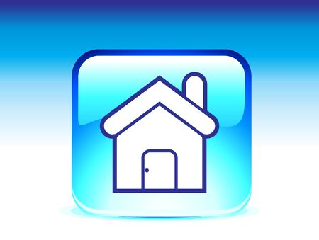abstract glossy home icon vector illustration  Vector