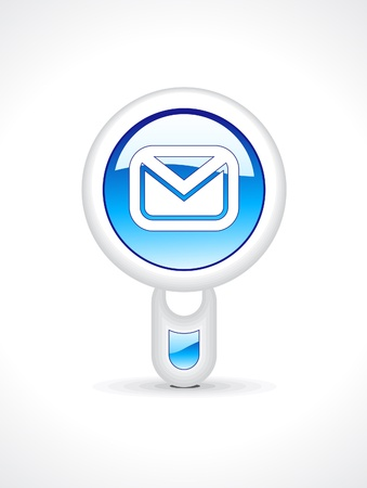 abstract glossy mail button vector illustration Stock Vector - 12948530