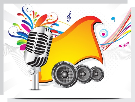 sings: abstract colorful musical background vector illustration