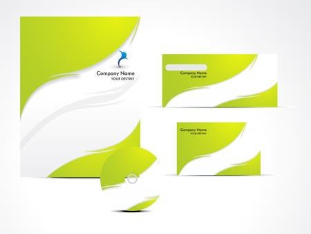 abstract green brochure set vector illustration Stock Vector - 13097686