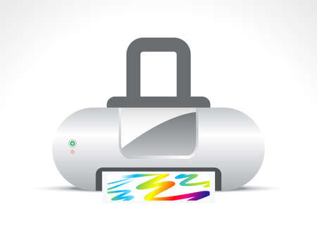 abstract printer icon vector illustration  Vector