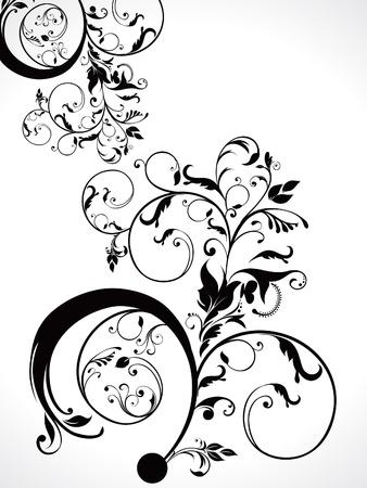 abstract  floral ornament vector illustration  Иллюстрация