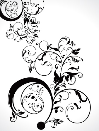 corner ornament: abstract  floral ornament vector illustration  Illustration